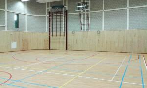 Stegge Twello - Houten betimmering gymzaal