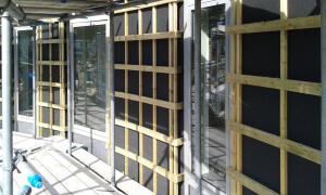 constructie voor houten gevel bekleding